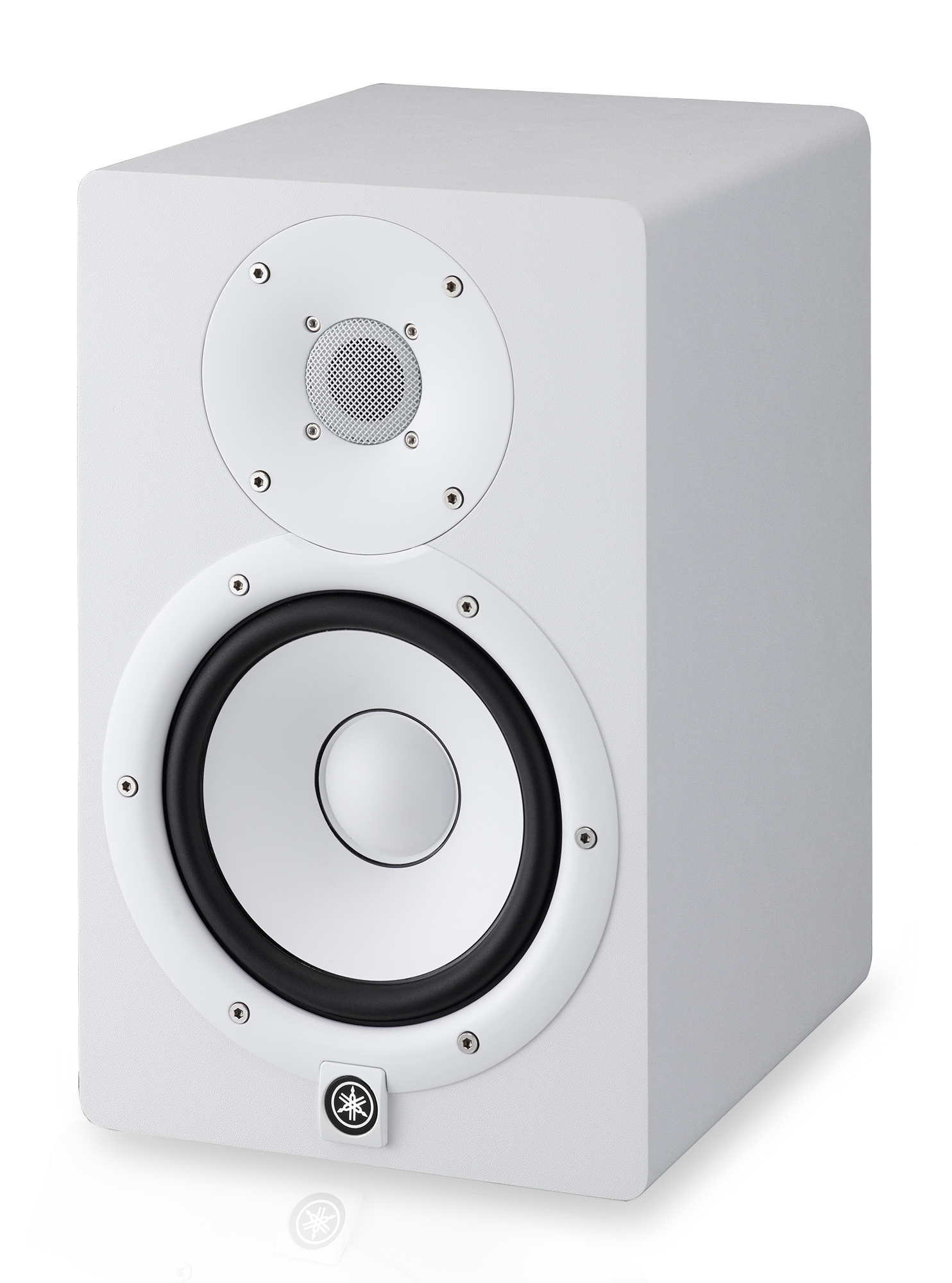 Yamaha hs7w 2 way 6 5 powered monitor speaker white ea for Yamaha powered monitor speakers